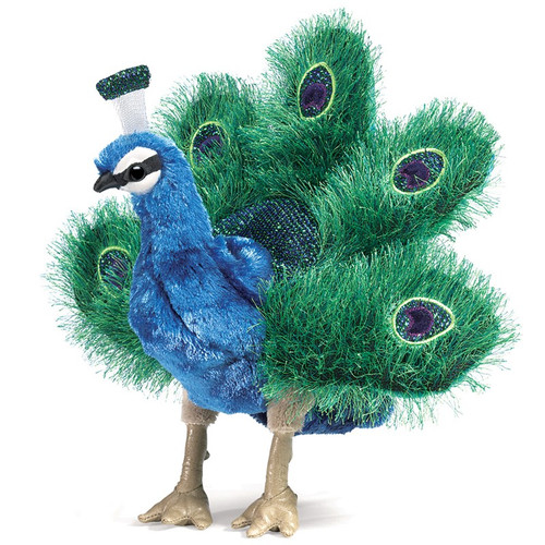 Folkmanis Peacock Puppet Small