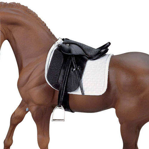 Breyer Dressage Saddle Stoneleigh II for traditional size. Horse not included.