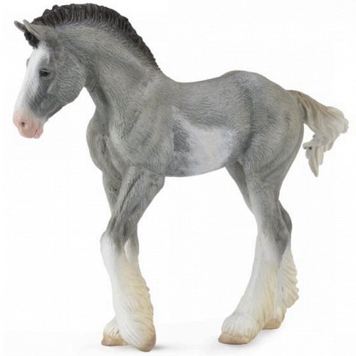 CollectA Clydesdale Foal Black Sabino