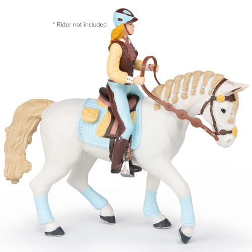 Papo Trendy Riding Womans Horse Blue
