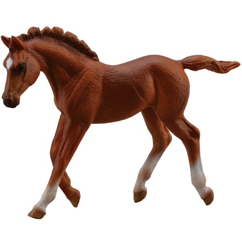 CollectA Thoroughbred Foal Walking Chestnut