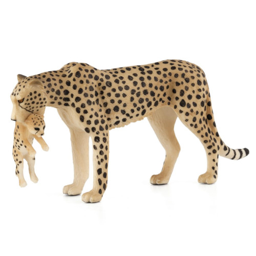 Mojo Cheetah Female with Cub new paint