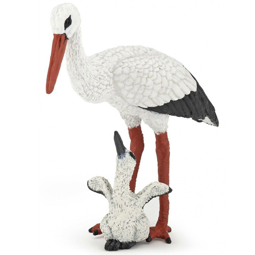 Papo Stork with Baby