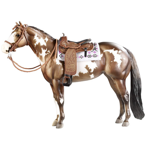 Breyer Western Pleasure Saddle Cimarron traditional size. Horse not included.