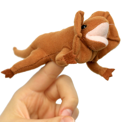 Frilled Lizard Finger Puppet