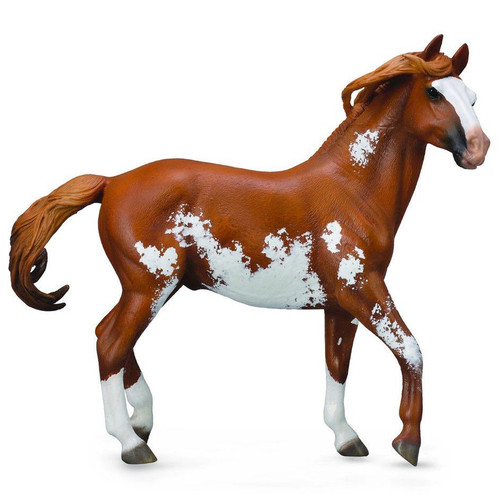 CollectA Mustang Stallion Chestnut Overo Deluxe Scale