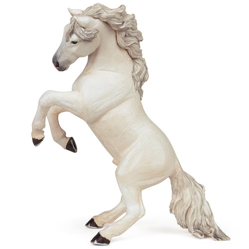 Papo Horse White Reared Up