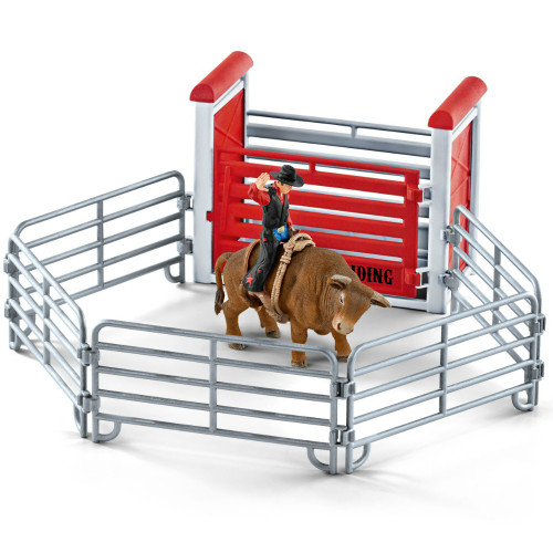 Schleich Bull Riding with Cowboy