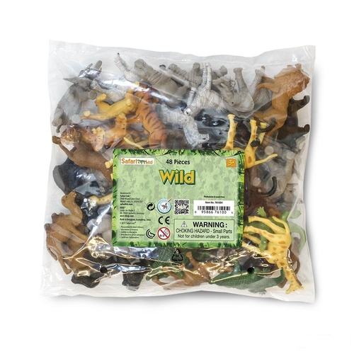 Safari Ltd Wild Bulk Bag 48pc