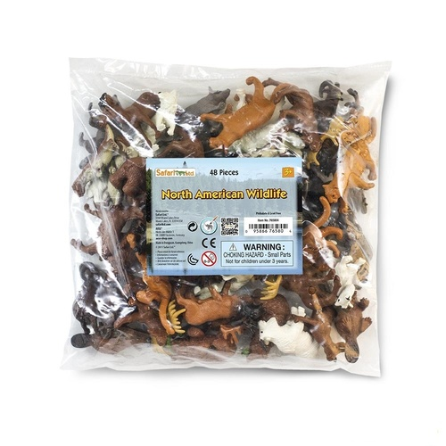 Safari Ltd North American Wildlife Bulk Bag 48pc