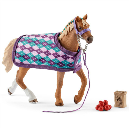 Schleich English Thoroughbred with Blanket