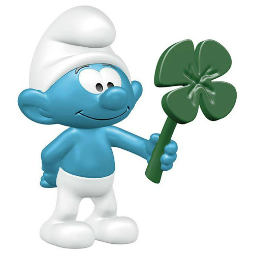 Schleich Smurf with Shamrock