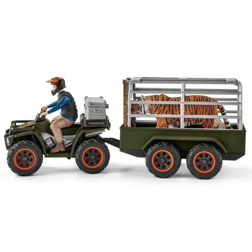 Schleich Quad Bike with Trailer & Ranger