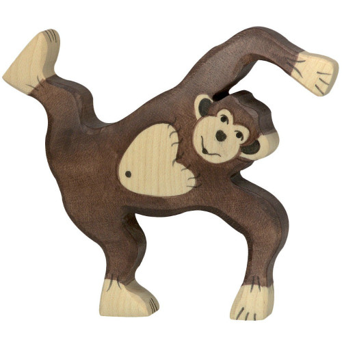 Chimpanzee Playing Holztiger