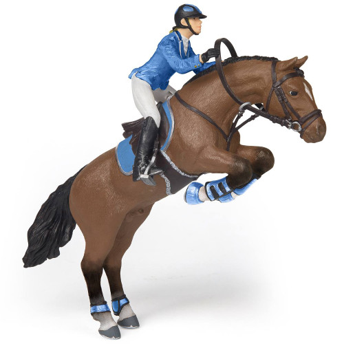 Papo Jumping Horse with Riding Girl