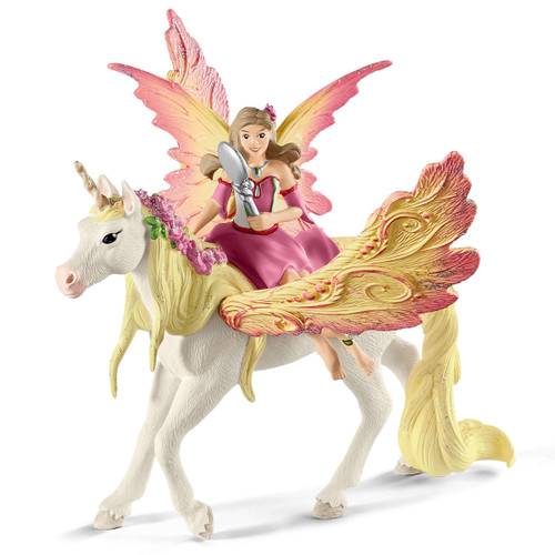 Schleich Feya with Pegasus Unicorn