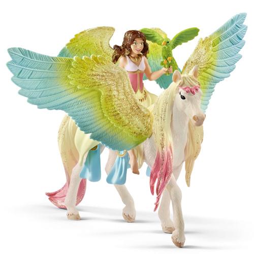 Schleich Surah with Glitter Pegasus