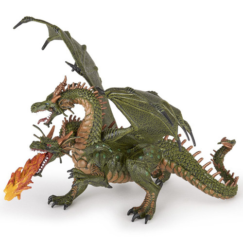 Papo Dragon Two Headed Green