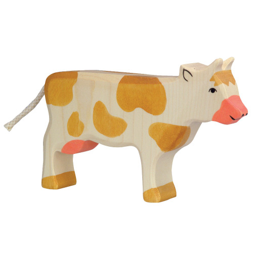 Cow Standing Brown Holztiger