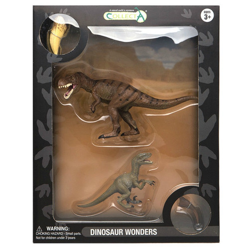 CollectA Gift Set TRex & Velociraptor 4pc