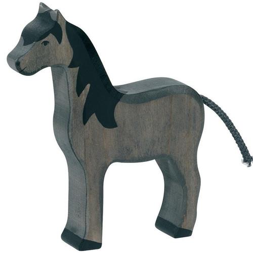 Horse Black Holztiger