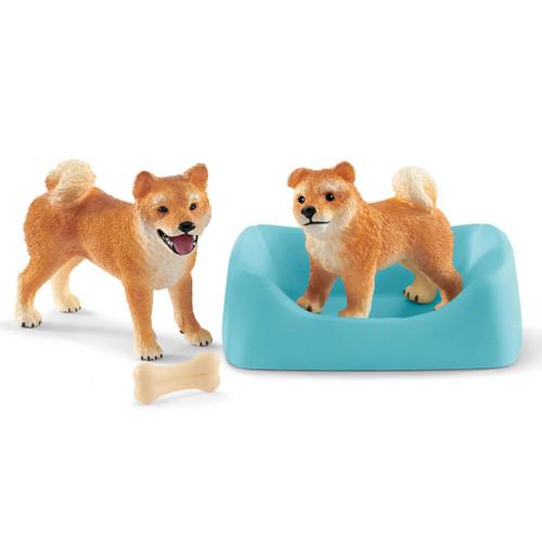 Schleich Shiba Inu Mother and Puppy