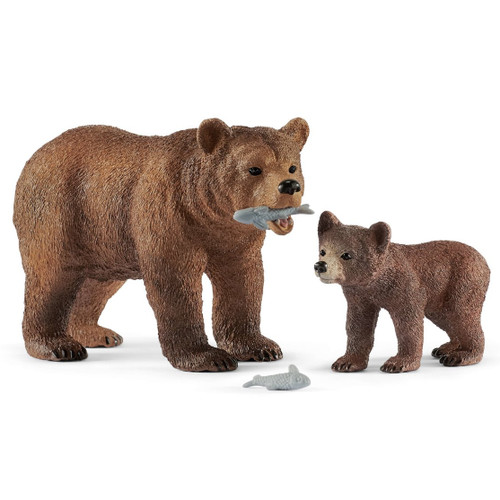 Schleich Grizzly Bear Mother with Cub