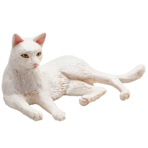 Cat Lying White