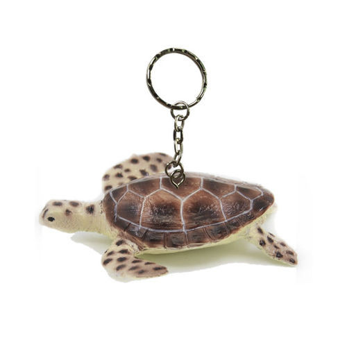 Science and Nature Green Turtle Keychain