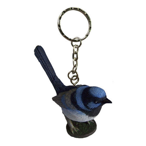 Science and Nature Blue Wren Keychain