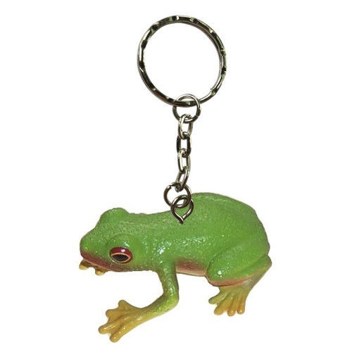 Red Eyed Green Tree Frog Keychain