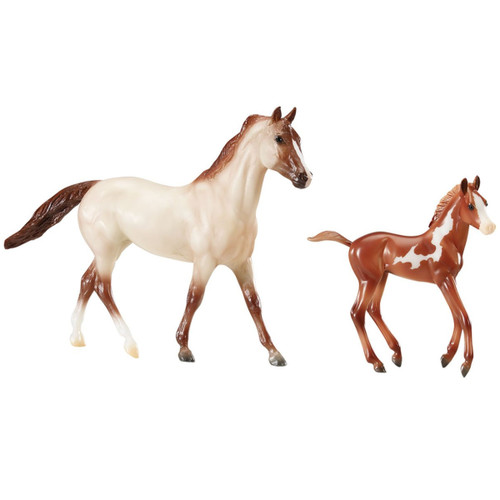Breyer Running Wild model horse with foal classic size