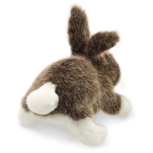 Cottontail Rabbit Finger Puppet back view