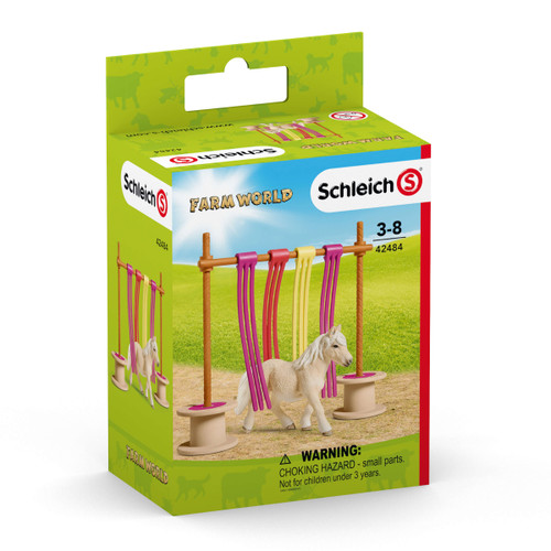 Schleich Pony Curtain Obstacle packaging