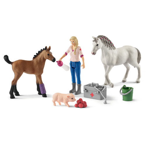 Schleich Vet Visiting Mare and Foal set