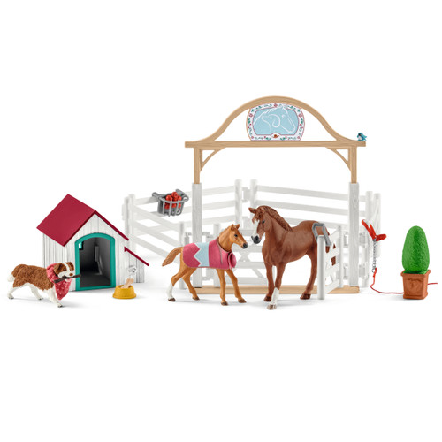 Schleich Hannah's Guest Horses with Ruby the Dog