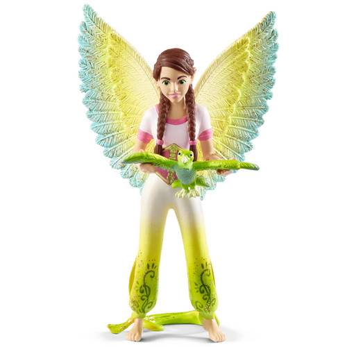 Schleich Bayala Surah with Parrot Kuack