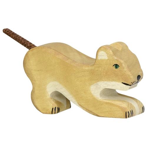 Holztiger Lion Cub Playing
