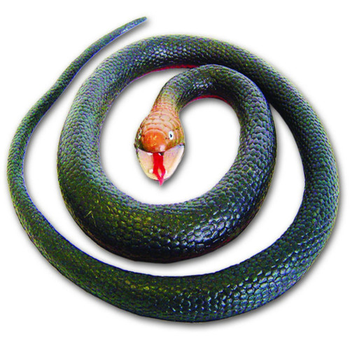 "Red-Bellied Black Rubber Snake 42"""