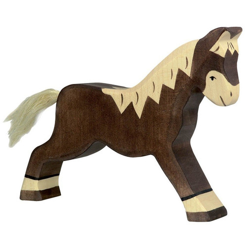 Holztiger Dark Brown Horse Running 80034