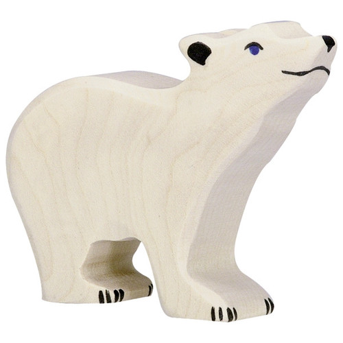 Holztiger Small Polar Bear Head Raised