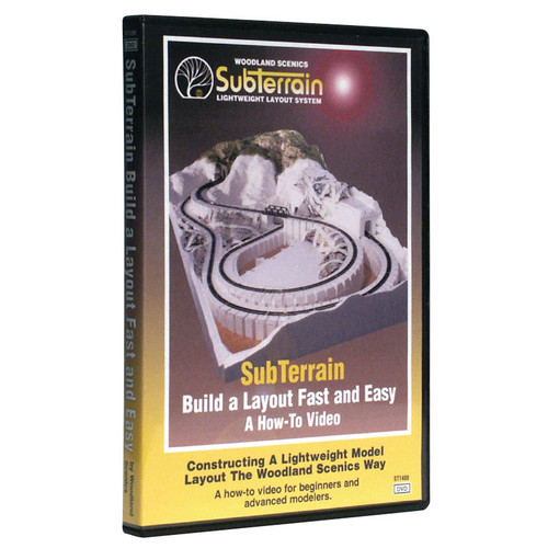 Woodland Scenics SubTerrain Build A Layout Fast and Easy DVD
