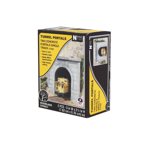Woodland Scenics Concrete Single Portal N Scale packaging