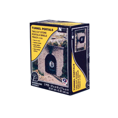 Woodland Scenics Cut Stone Single Portal N Scale packaging