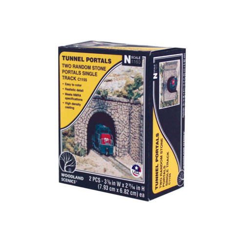 Woodland Scenics Random Stone Single Portal N Scale packaging