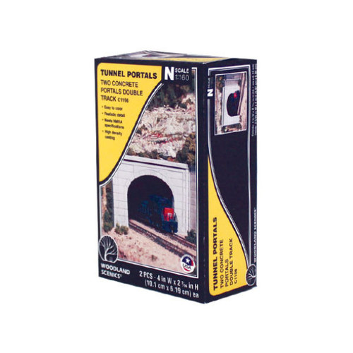 Woodland Scenics Concrete Double Portal N Scale box