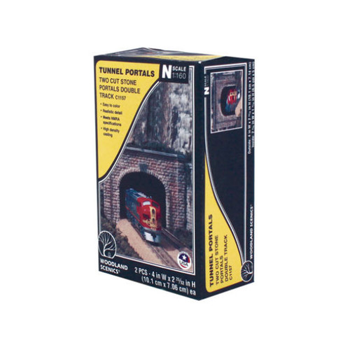 Woodland Scenics Cut Stone Double Portal N Scale box
