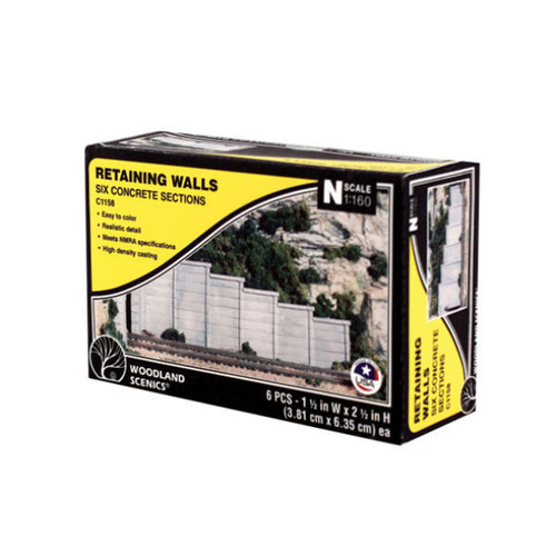 Woodland Scenics Concrete Retaining Wall N Scale packaging