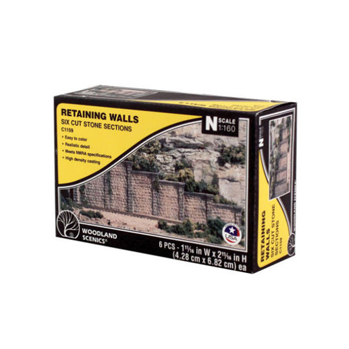 Woodland Scenics Cut Stone Retaining Wall N Scale packaging