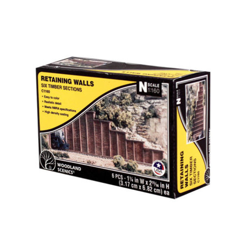 Woodland Scenics Timber Retaining Wall N Scale packaging